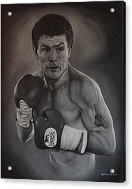 Acrylic Print featuring the painting Ricky Hatton by David Dunne