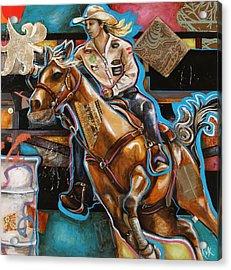 Ride Baby Ride Acrylic Print