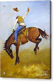 Acrylic Print featuring the painting Ride 'em Cowboy by Carol Hart