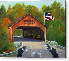 Ride For The Troops Acrylic Print