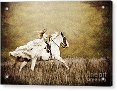 Ride Like The Wind Acrylic Print by Cindy Singleton