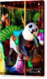 Ride The Panda Acrylic Print
