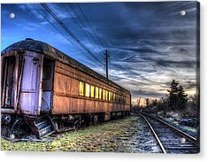Ride The Rails Acrylic Print