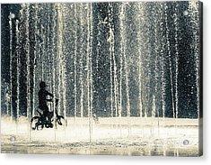 Ride Through The Drops Acrylic Print