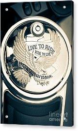 Ride To Live Acrylic Print