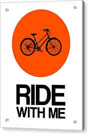 Ride With Me Circle Poster 1 Acrylic Print by Naxart Studio