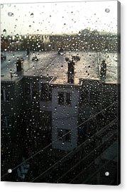 Ridgewood Houses Wet With Rain Acrylic Print