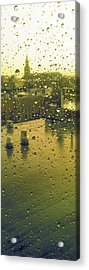 Ridgewood Wet With Rain St Matthias Roman Catholic Church Acrylic Print by Mieczyslaw Rudek Mietko