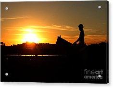 Riding At Sunset Acrylic Print