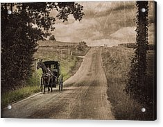 Riding Down A Country Road Acrylic Print by Tom Mc Nemar