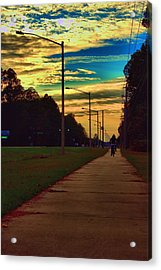 Riding Into The Sunset Acrylic Print