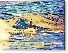 Riding Out The Wave Acrylic Print by John Malone