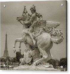 Riding Pegasis Acrylic Print