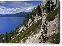Acrylic Print featuring the photograph Riding The Flume Trail by Peter Thoeny