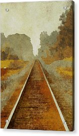 Riding The Rails Acrylic Print by Dan Sproul