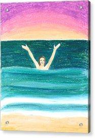 Riding The Wave Acrylic Print