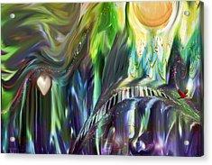 Riding The Wave Acrylic Print by Linda Sannuti
