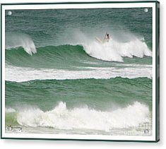 Riding The Waves Acrylic Print