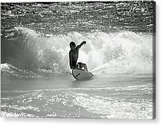 Riding The Waves Acrylic Print by Thomas Fouch