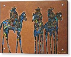 Riding Three Acrylic Print by Lance Headlee