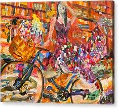 Riding Through Life Acrylic Print