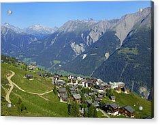 Riederalp Valais Swiss Alps Switzerland Acrylic Print