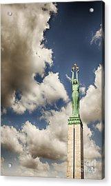 Riga Freedom Monument Acrylic Print by Sophie McAulay