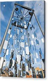 Riga Monument To Christmas Trees Acrylic Print by Antony McAulay