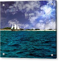 Right On Course...... Acrylic Print