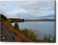 Right Side Of The Track Acrylic Print by Mim White