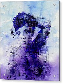 Rihanna 2 Acrylic Print by Bekim Art