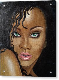 Rihanna Acrylic Print by Lauri Loewenberg