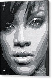 Rihanna  Acrylic Print by Siobhan Bevans