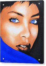 Rihanna Acrylic Print by Victor Minca