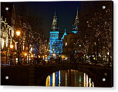 Rijksmuseum At Night Acrylic Print by Jonah  Anderson