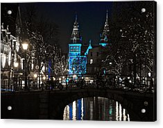 Rijksmuseum In Blue Acrylic Print by Jonah  Anderson