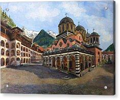 Rila Monastery  Bulgaria Acrylic Print by Henrieta Maneva