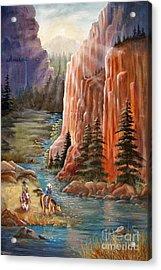 Rim Canyon Ride Acrylic Print by Marilyn Smith