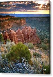 Rim Drive Sunrise Acrylic Print by Ray Mathis