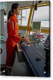 Rima Lumangtad Anchoring Z-drive Ship Acrylic Print