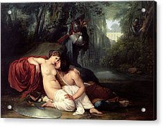 Rinaldo And Amida Acrylic Print by Francesco Hayez