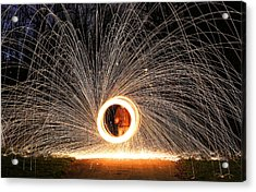 Ring Of Fire Acrylic Print by Anna-Lee Cappaert