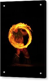 Ring Of Fire Acrylic Print by Mike  Dawson