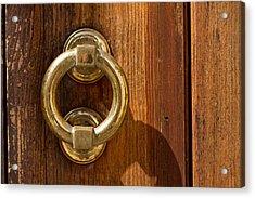Ring On The Door Acrylic Print