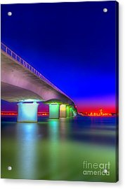 Ringling Bridge Acrylic Print by Marvin Spates