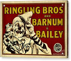 Ringling Bros   Barnum And Bailey Circus Acrylic Print by Elaine Manley