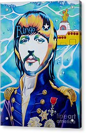 Ringo Acrylic Print by Debbie  Diamond