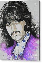 Ringo Starr. 01 Acrylic Print by Chrisann Ellis