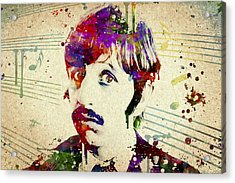 Ringo Starr Acrylic Print by Aged Pixel