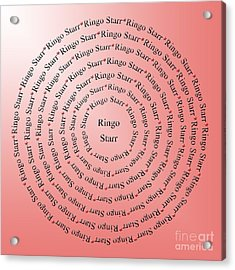 Ringo Starr Typography Acrylic Print by Andee Design